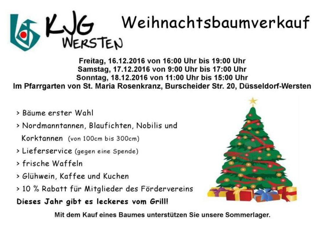 Dusseldorfer Rheinbogen Kjg Weihnachtsbaumverkauf 2018